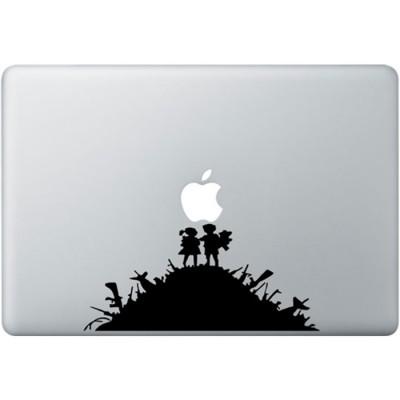 Banksy Kids MacBook Sticker Schwarz MacBook Aufkleber
