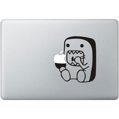 Domo Muching Macbook Aufkleber Schwarz MacBook Aufkleber