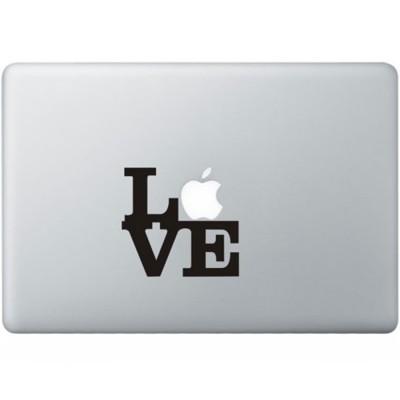 Liebe MacBook Aufkleber Schwarz MacBook Aufkleber