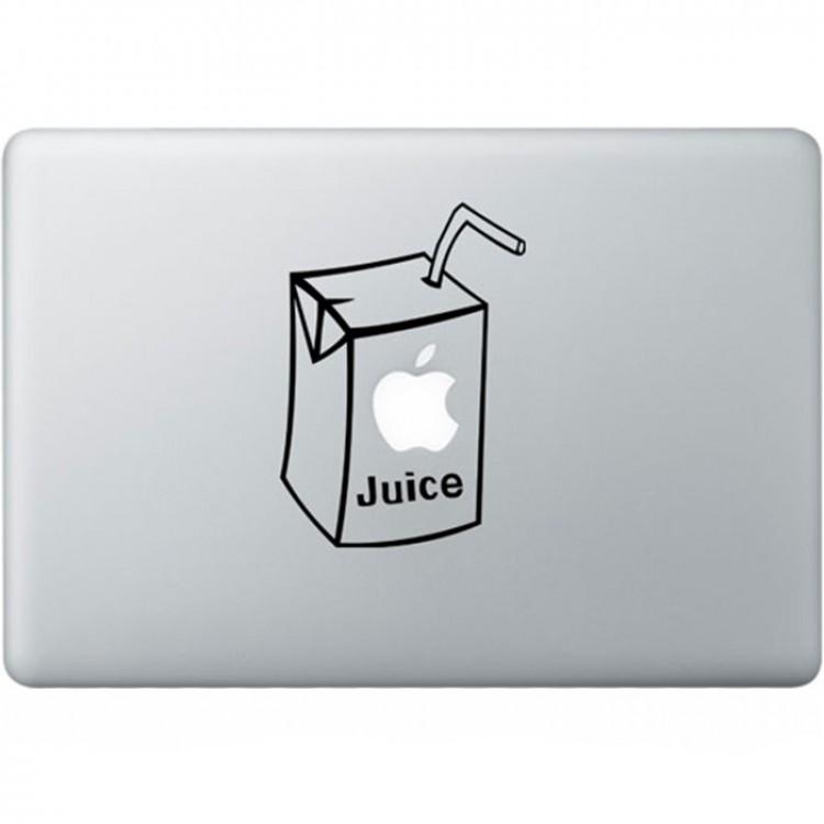 Apple Juice MacBook Aufkleber Schwarz MacBook Aufkleber