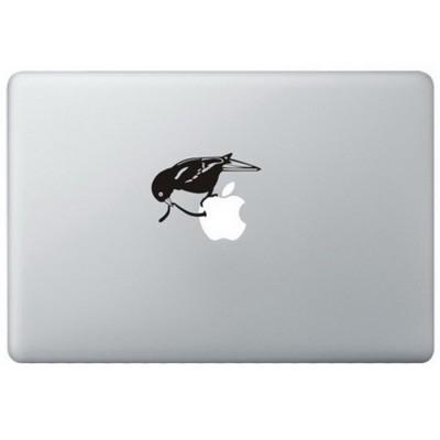 Frühe Vogel MacBook Aufkleber Schwarz MacBook Aufkleber