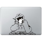 Cookie Monster (2) MacBook Aufkleber Schwarz MacBook Aufkleber
