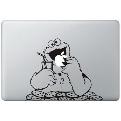 Cookie Monster (2) MacBook Aufkleber Schwarz MacBook Aufkleber
