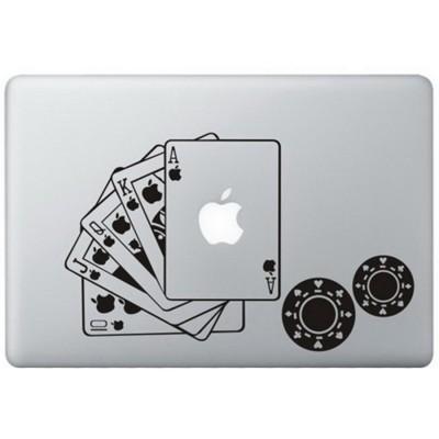 Poker MacBook Aufkleber Schwarz MacBook Aufkleber