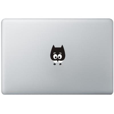 Baby Eule MacBook Aufkleber Schwarz MacBook Aufkleber