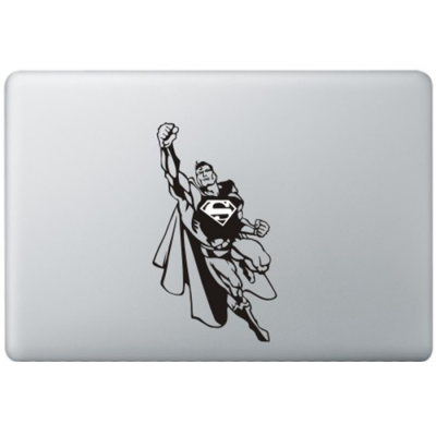 Superman (2) MacBook Aufkleber Schwarz MacBook Aufkleber
