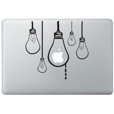 Hängende Birnen MacBook Aufkleber Schwarz MacBook Aufkleber