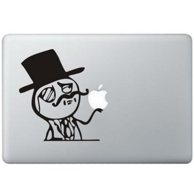 Wie ein Adliger MacBook Aufkleber Schwarz MacBook Aufkleber
