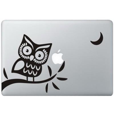 Eule (2) MacBook Aufkleber Schwarz MacBook Aufkleber