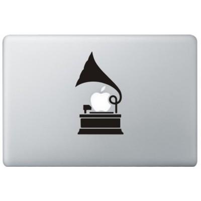 Grammofoon MacBook Sticker Schwarz MacBook Aufkleber