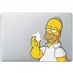 Homer Simpsons MacBook Aufkleber Fabrige MacBook Aufkleber