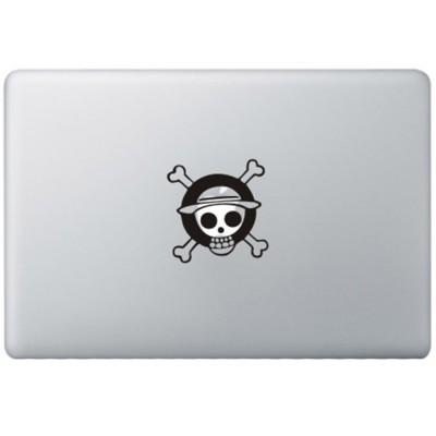 One Piece Monkey Logo MacBook Aufkleber Schwarz MacBook Aufkleber