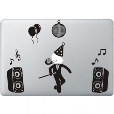 Party Guy  Macbook Aufkleber Schwarz MacBook Aufkleber