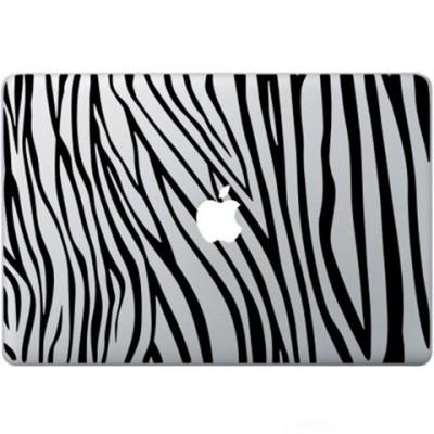 Zebra Ausdruck Macbook Aufkleber Schwarz MacBook Aufkleber