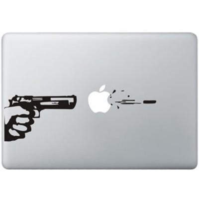 Kugel Feuer MacBook Aufkleber Schwarz MacBook Aufkleber